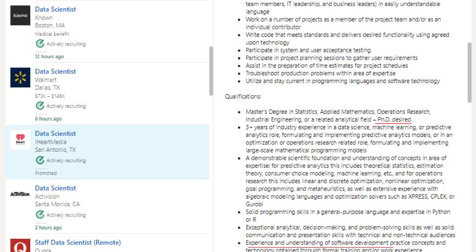 Data Science Resume Objective