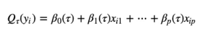Quantile Regression Analysis Equation