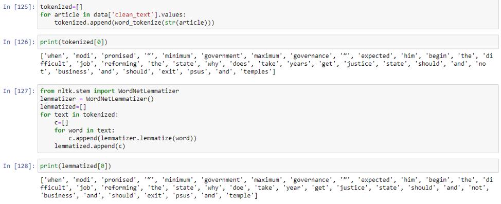 Tokenization NLP Python