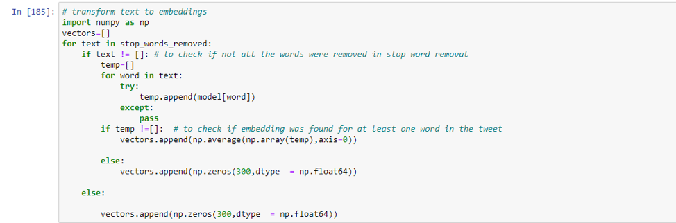 Word Embeddings NLP Python Example