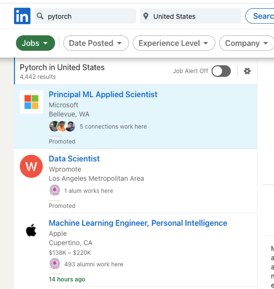PyTorch Jobs in US